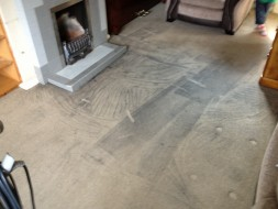 Carpet soot damage cleaning service
